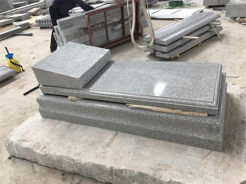 G603 Jewish Tombstone, Grey Granite Mounments